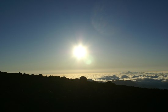 Haleakala Crater: About 20 minutes after sunrise