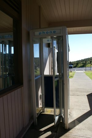 Haleakala Crater: Look!  A phonebooth at the visitor center!  Nearly EXTINCT!