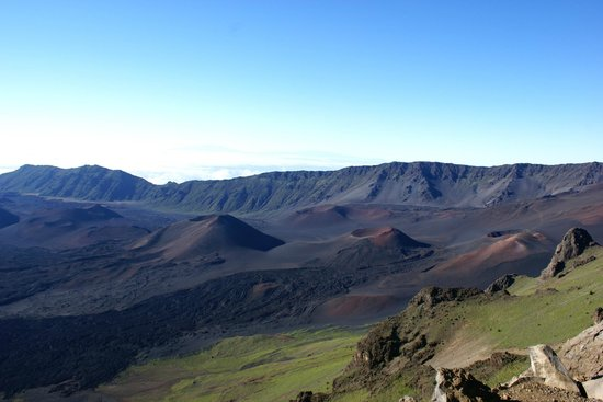 Haleakala Crater: A view of the cones from a different area of the park.