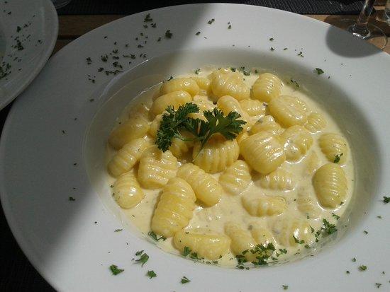 Oliv: Gnocci an Gorgonzolasauce