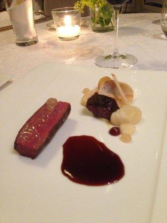 Restaurant Kuppelrain: Rehrückem mit Sellerie und Birne