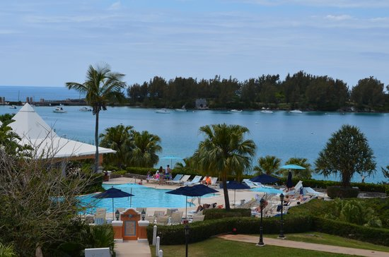 Grotto Bay Beach Resort & Spa: View over the resort pool