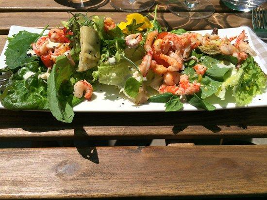 Le bistrot de bacchus : salade d'écrevisses