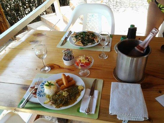 Casa Los Cerros: Excelente platos preparados por Jean