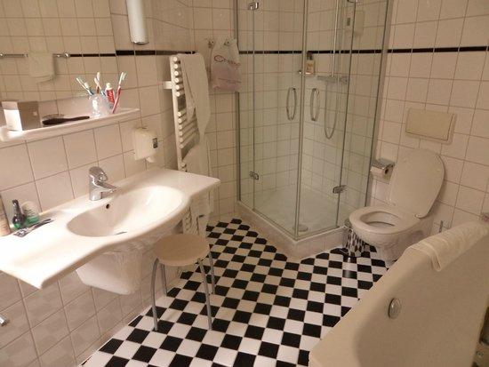 Hotel Brandies: Ванная комната номера Комфорт (душевая+ванная)