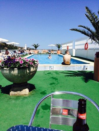 Hotel Merce : Pool side, beautiful views, always beds free, pool plenty big enough.