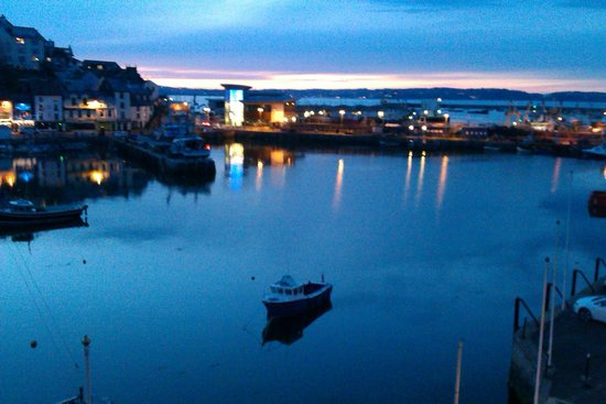 Sampford Guest House: Harbour and Torquat at twilight