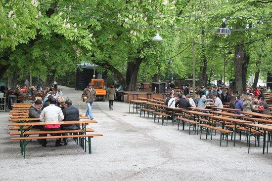 Augustiner-Keller: Пивной сад пивоварни Августинер