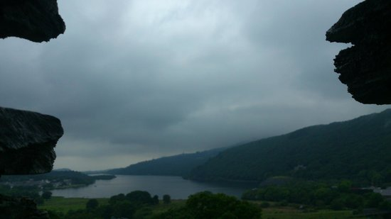 Dolbadarn Castle : This is looking out the second floor window onto Padarn Lake.