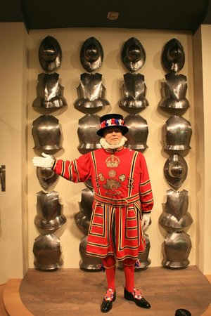 Frazier History Museum: A mannequin dressed as Britsh Beefeater in the top floor exhibit.