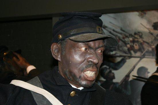Frazier History Museum: Part of the Civil War exhibit.