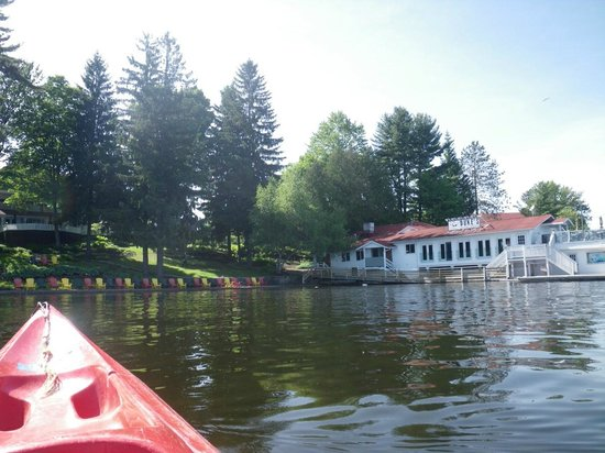 Clevelands House: view from canoe