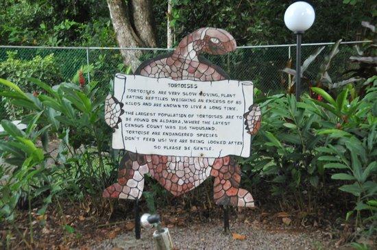Coral Strand Smart Choice Hotel Seychelles: Зоопарк в соседнем отеле