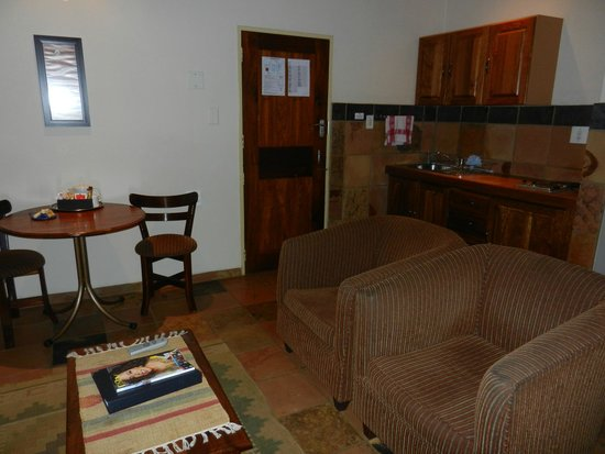 Forever Resort Blyde Canyon : Küche/Wohnzimmer