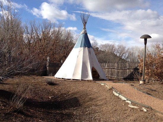 Bishop's Lodge Resort & Spa: The teepee next to the spa