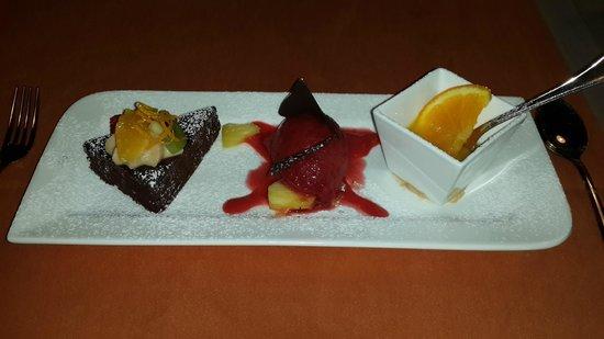 VIK Suite Hotel Risco del Gato: delicioso plato de postre/ Köstliche Nachspeise