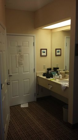 Quality Inn Greenville: Plenty of counter space:)