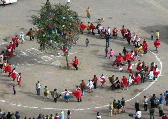 Temple d'Ollantaytambo : Carnival Tree Cutting