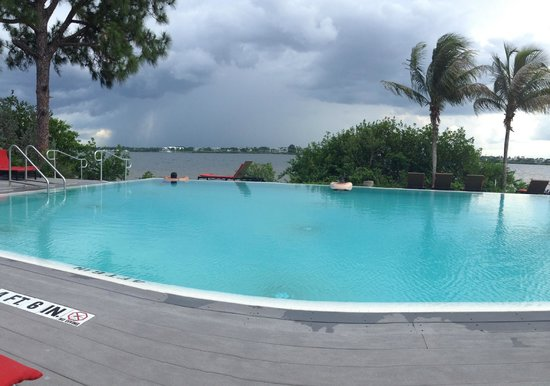 Club Med Sandpiper Bay: Adults Only Pool (storm rolling in)