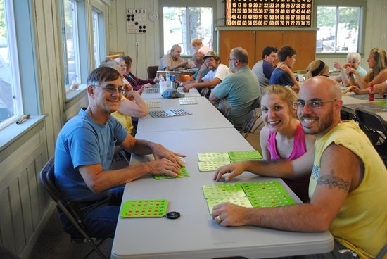 Pine Cradle Lake Family Campground: always enjoy bingo Friday and Sat. night
