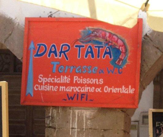 Note that Dar Tata has free WiFi -- always a plus!!
