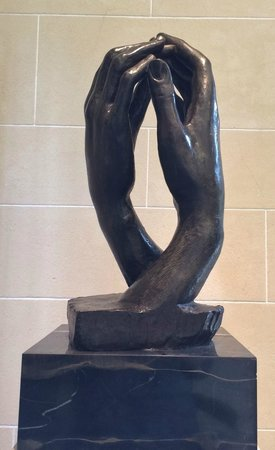 Rodin Museum: The Cathedral - two right hands of two people because it take two to make a cathedral