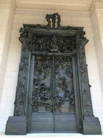 Rodin Museum: Gates of Hell - 35 years of work and he felt it incomplete.