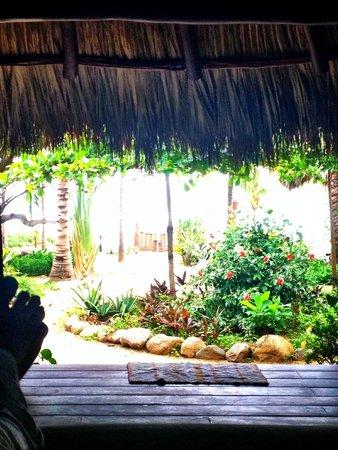 Casa Viva Troncones: view from square casita