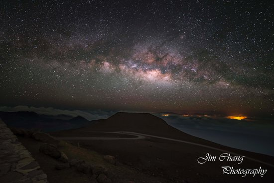 Haleakala Crater: Milky Way over Haleakala Summit