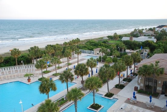 Myrtle Beach Marriott Resort & Spa at Grande Dunes: View from our room on the fourth floor