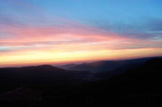 Arkansas Grand Canyon Cabins: Sun rise over the Ark. Grand Canyon