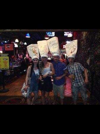 Dick's Last Resort: our hats we had to wear