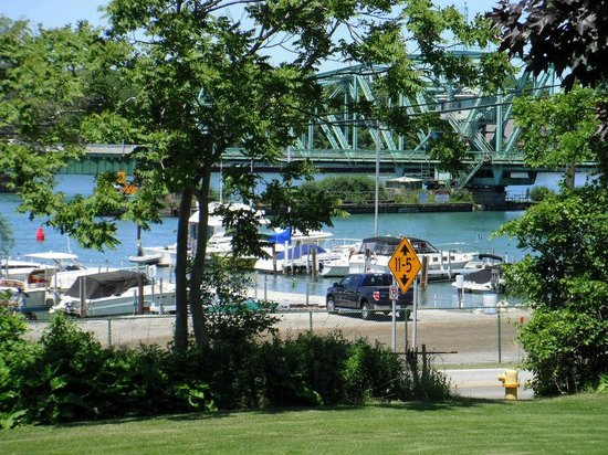 Grosse Ile, MI: View from the deck of Sharkey's