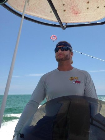 Just Chute Me Parasail : Captain Brad in charge!