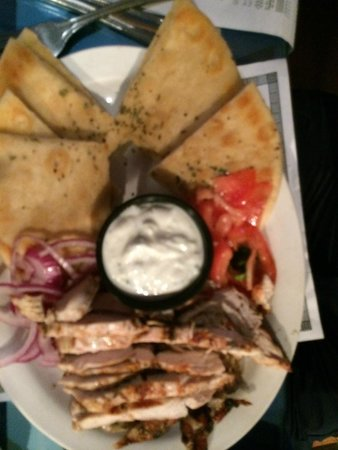 olive oil: gyro plate