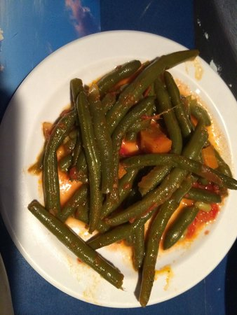 olive oil: Green beans