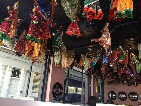 Masala Zone Covent Garden : Hanging dolls
