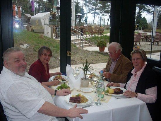 Aurelia Hotel St. Hubertus: Obiad w Hotelu Aurelia w Heringsdorf