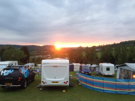 Newlands Holiday Park: The view from our tent.