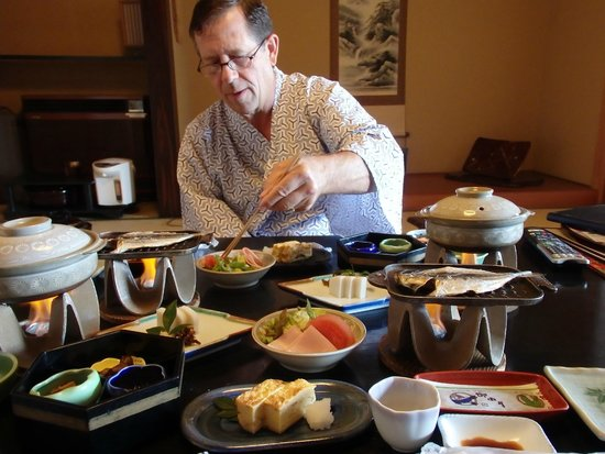 Yokikan: We enjoyed the very traditional Japanese cuisine, cooked and served in our room