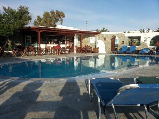 Sofia Village: piscina vista dalla camera