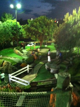 Pirate's Cove Adventure Golf: A view from above