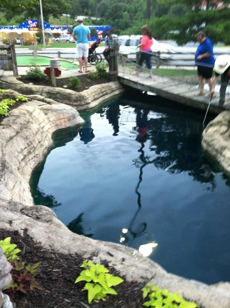 Pirate's Cove Adventure Golf: One of the water features