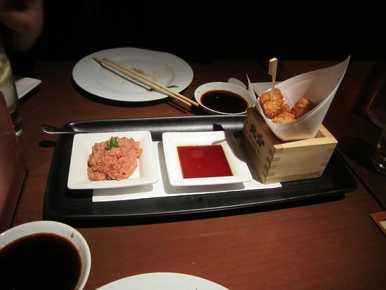 spicy tune with crispy rice. The best! - Picture of Nobu Milano ...