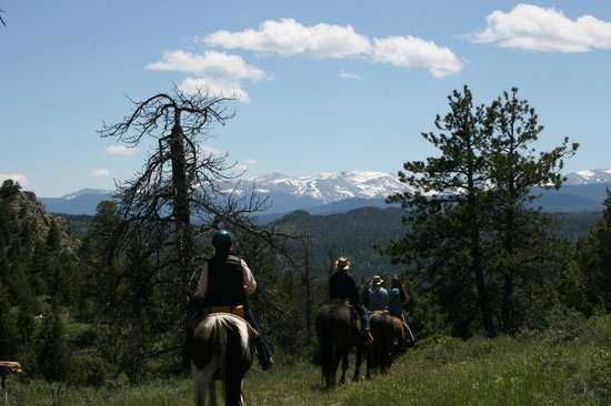 Sundance Trail Guest & Dude Ranch : Snow capped mountain peaks (The Mummy)