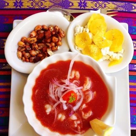 La Choza : Shrimp Ceviche - One of the best!