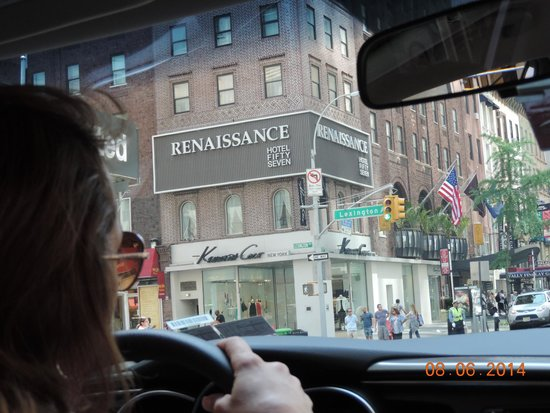 Renaissance New York Hotel 57: The hotel from the road
