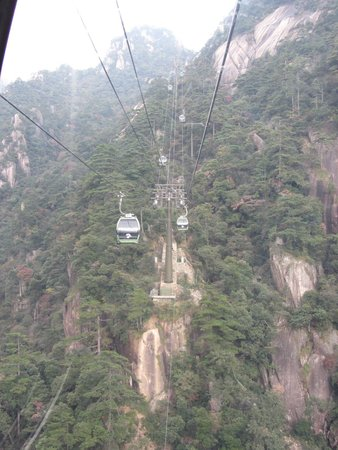 Mt. Huangshan (Yellow Mountain): cable car
