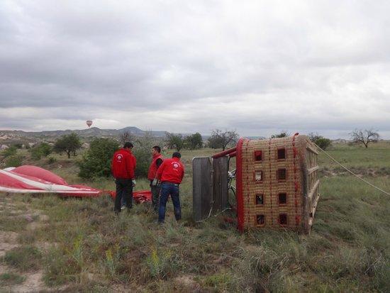Balloon Turca: after landing