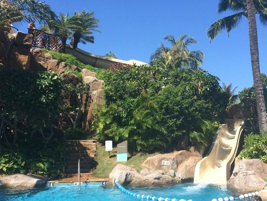 Westin Maui Resort And Spa: The pool slide...I may have waited in line with the kids 10+ times!
